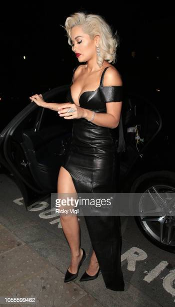 Rita Ora seen arriving at The UNICEF Halloween Ball held at Banqueting House on October 30 2018 in London England