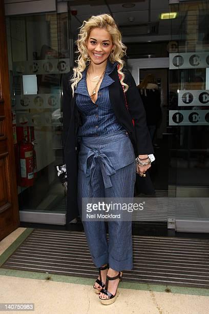 Rita Ora seen at BBC Radio 1 on March 6 2012 in London England