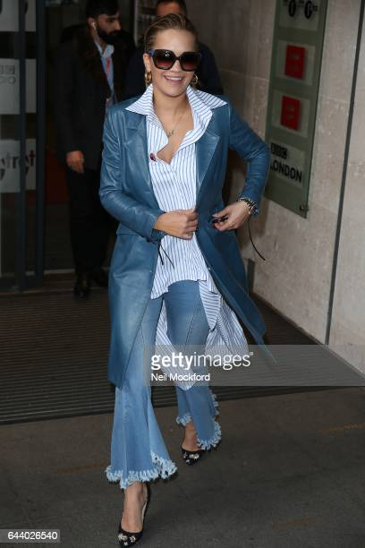 Rita Ora seen at BBC Radio One on February 23 2017 in London England
