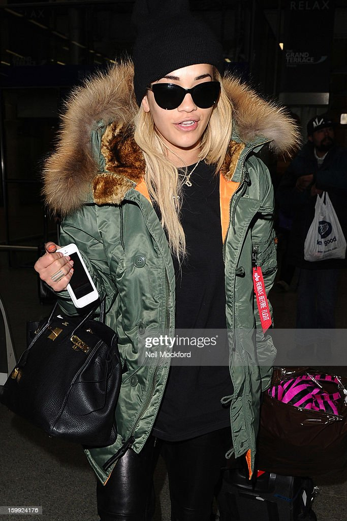 Rita Ora seen at King's Cross St Pancras on January 23, 2013 in London, England.