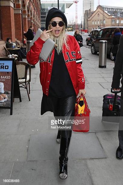 Rita Ora seen at King's Cross St Pancras on January 25 2013 in London England