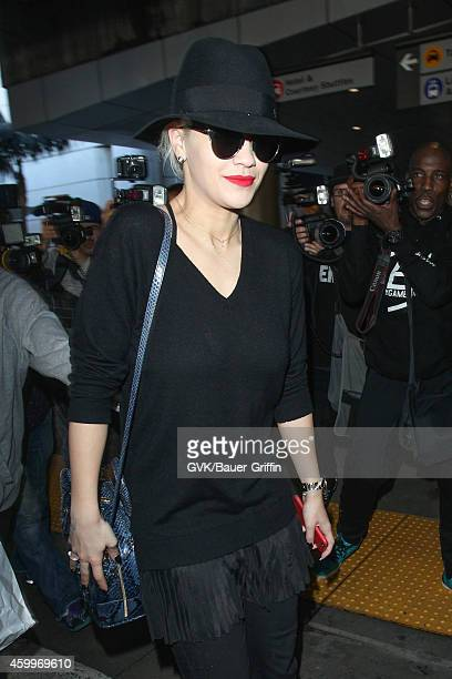 Rita Ora seen at LAX on December 04 2014 in Los Angeles California