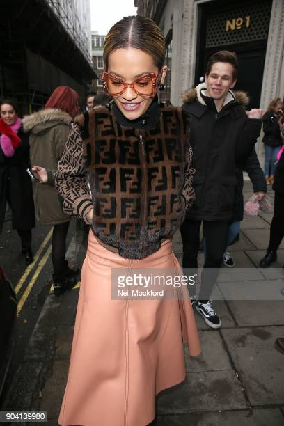 Rita Ora seen at the KISS FM UK Studios on January 12 2018 in London England