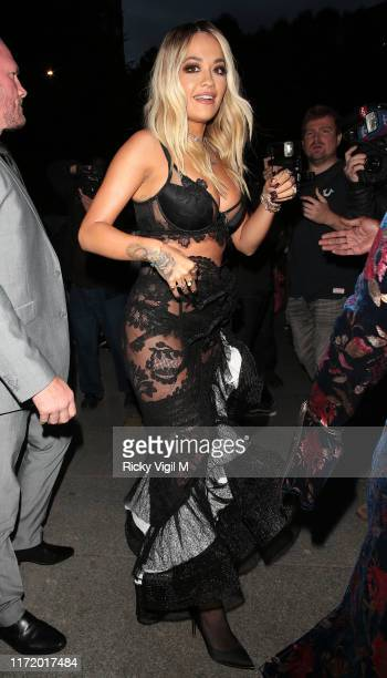 Rita Ora seen attending GQ Men of the Year Awards at Tate Modern on September 03 2019 in London England