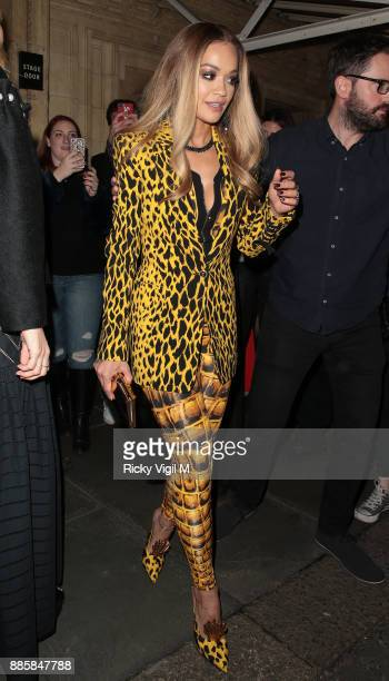 Rita Ora seen leaving The Fashion Awards 2017 held at Royal Albert Hall on December 4 2017 in London England