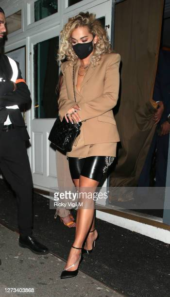 Rita Ora seen on a night out at The Broadway Muswell Hill after filming The Masked Singer on September 18 2020 in London England
