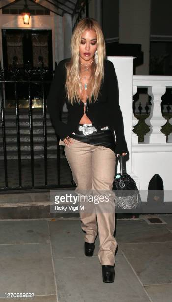 Rita Ora seen on a night out in London on September 04 2020 in London England