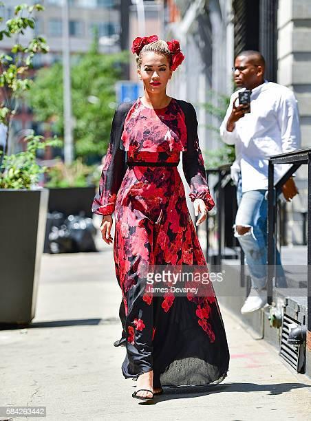 Rita Ora seen on the streets of Manhattan on July 28 2016 in New York City