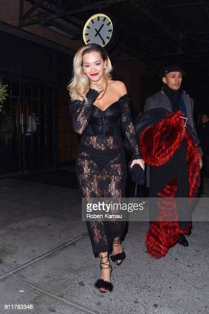 Rita Ora seen out and about after attending the Grammy Awards on January 28 2018 in New York City