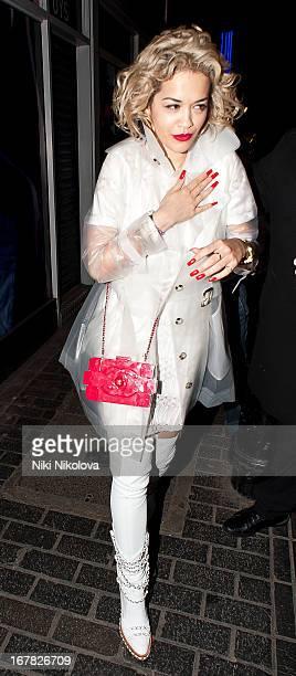 Rita Ora sighting leaving The Box Soho on April 30 2013 in London England