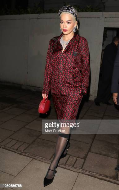 Rita Ora sighting on December 10, 2018 in London, England.
