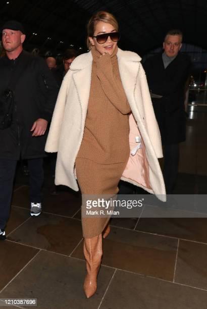 Rita Ora sighting on March 04, 2020 in London, England.