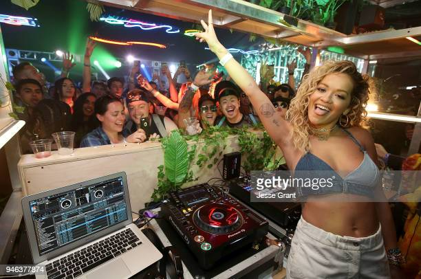 Rita Ora stops by the Absolut Openhouse Tent at the Coachella Valley Music and Arts Festival to Celebrate Acceptance with Fans Featuring New Song...