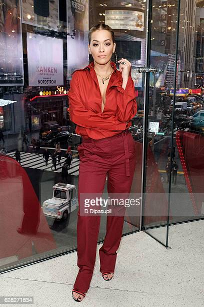 Rita Ora visits 'Extra' at their New York studios at HM in Times Square on December 7 2016 in New York City