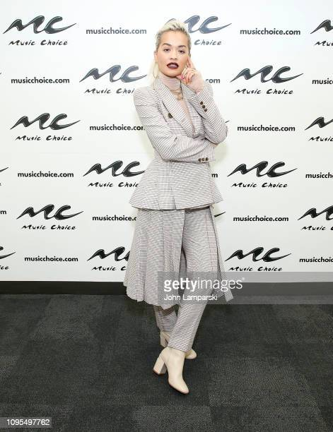 Rita Ora visits Music Choice on January 17 2019 in New York City
