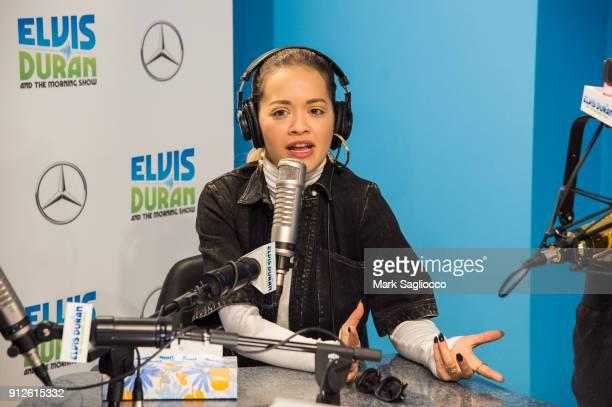 Rita Ora visits 'The Elvis Duran Z100 Morning Show' at Z100 Studio on January 31 2018 in New York City