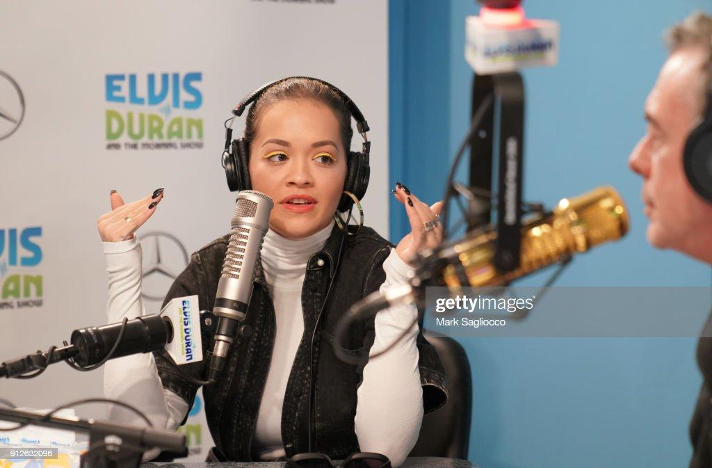 Rita Ora visits 'The Elvis Duran Z100 Morning Show' at Z100 Studio on January 31, 2018 in New York City.