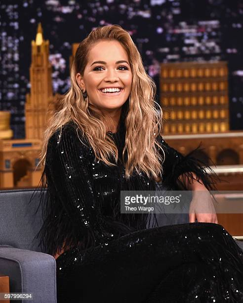 Rita Ora Visits 'The Tonight Show Starring Jimmy Fallon' at Rockefeller Center on August 30 2016 in New York City