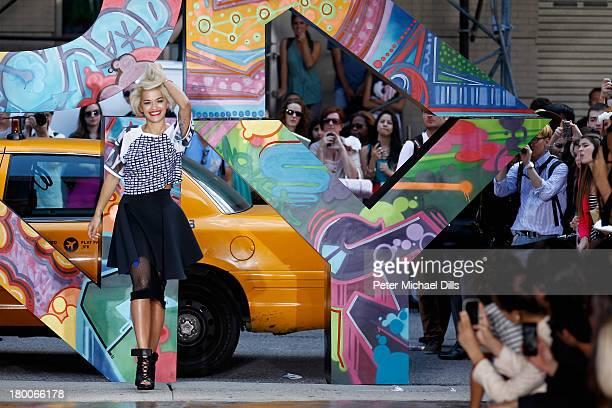 Rita Ora walks the runway at DKNY Women's Spring 2014 fashion show dring MercedesBenz Fashion Week Spring 2014 on September 8 2013 in New York City