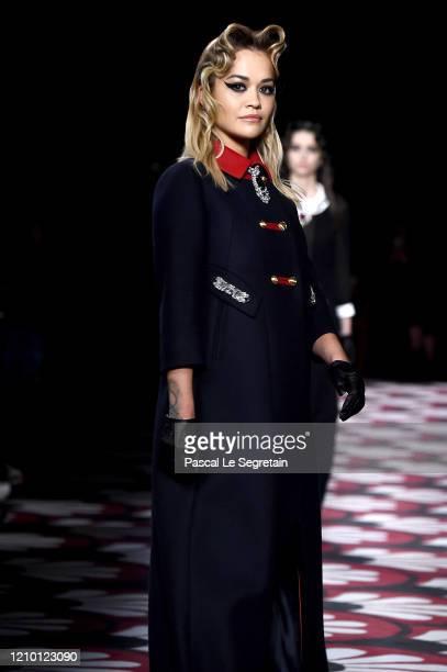 Rita Ora walks the runway during the Miu Miu as part of the Paris Fashion Week Womenswear Fall/Winter 2020/2021 on March 03 2020 in Paris France
