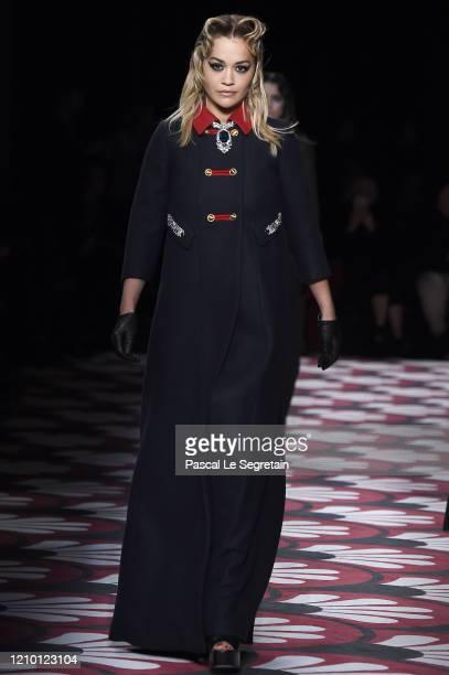 Rita Ora walks the runway during the Miu Miu as part of the Paris Fashion Week Womenswear Fall/Winter 2020/2021 on March 03, 2020 in Paris, France.