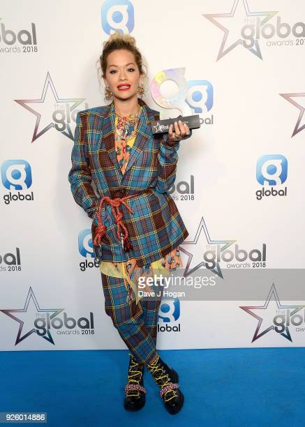 Rita Ora wins Best Pop at The Global Awards a brand new awards show hosted by Global the Media Entertainment Group at Eventim Apollo Hammersmith on...