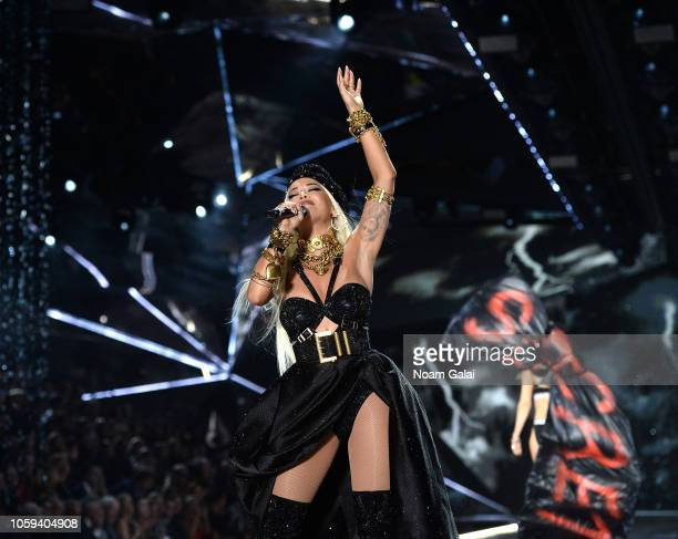 Rita Orawalks the runway during the 2018 Victoria's Secret Fashion Show at Pier 94 on November 8 2018 in New York City