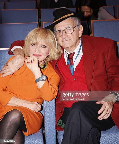 Rita Pavone and Teddy Reno attends 'Il Giornalino Di Gianburrasca' Photocall on November 30 2012 in Milan Italy
