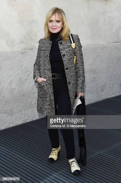 Rita Pavone attends a 'Private view of 'TV 70 Francesco Vezzoli Guarda La Rai' at Fondazione Prada on May 7 2017 in Milan Italy