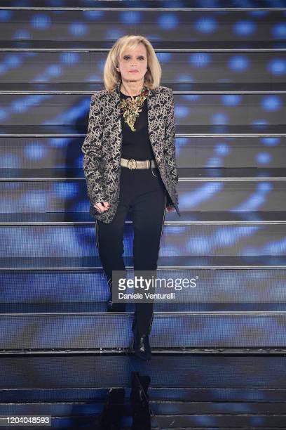 Rita Pavone attends the 70° Festival di Sanremo at Teatro Ariston on February 04 2020 in Sanremo Italy