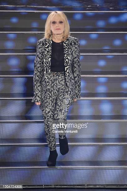Rita Pavone attends the 70° Festival di Sanremo at Teatro Ariston on February 07 2020 in Sanremo Italy
