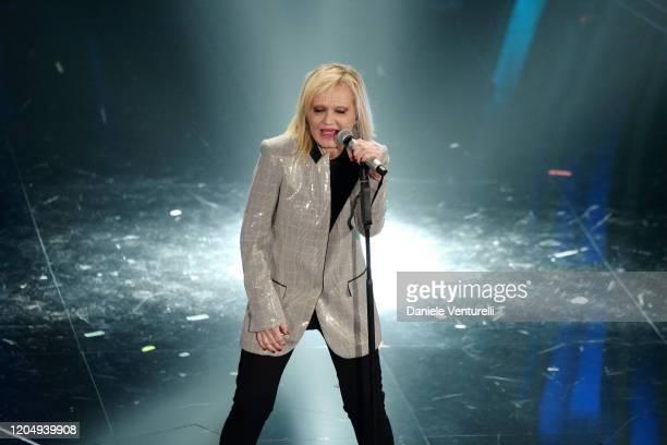 Rita Pavone attends the 70° Festival di Sanremo at Teatro Ariston on February 08 2020 in Sanremo Italy