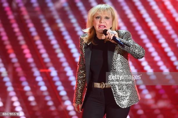 Rita Pavone attends the closing night of 67th Sanremo Festival 2017 at Teatro Ariston on February 11 2017 in Sanremo Italy