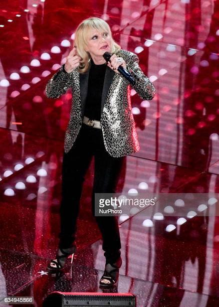 Rita Pavone during the 67th edition of the Sanremo Festival on February 11 2017