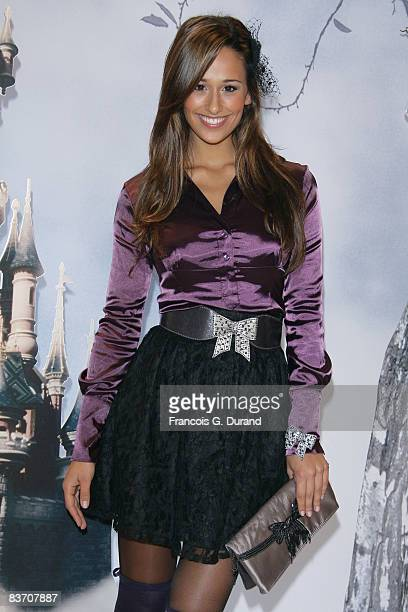 Rita Pereira attends the Christmas Lights Switching on day at Disneyland Resort Paris on November 15 2008 in Marne la Valle France