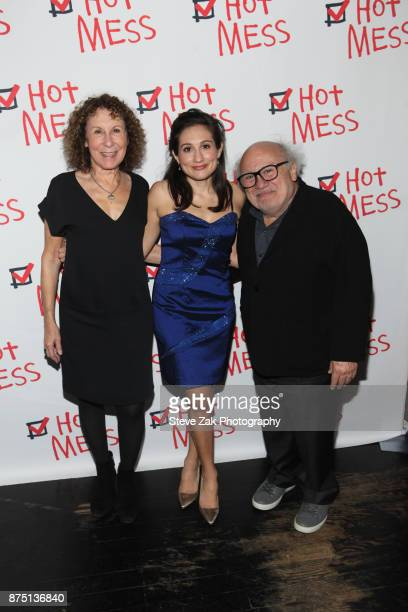 Rita Perlman Lucy DeVito and Danny DeVito attend the Hot Mess opening night after party at Thalia on November 16 2017 in New York City