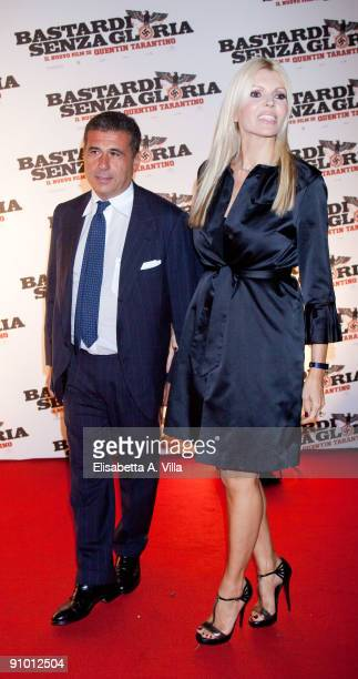 Rita Rusic and guest attend Inglourious Basterds Premiere at the Warner Cinema on September 21 2009 in Rome Italy