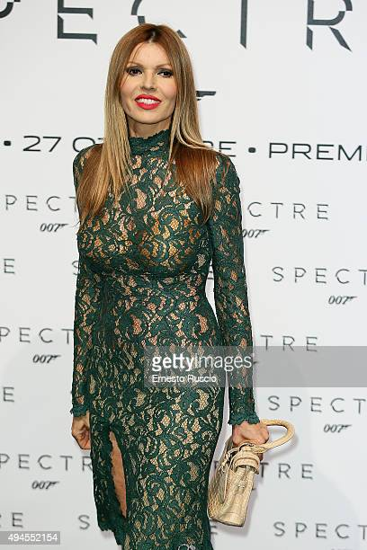 Rita Rusic attends a red carpet for 'Spectre' on October 27 2015 in Rome Italy