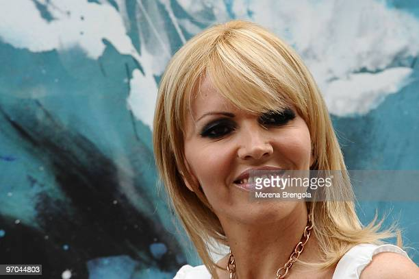 Rita Rusic attends the Italian tv show Scalo 76 on May 31 2008 in Milan Italy