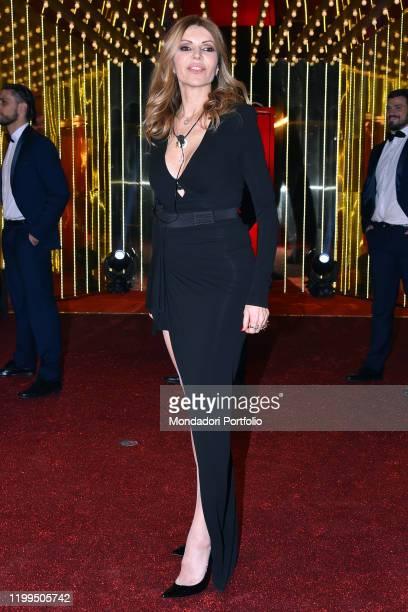 Rita Rusic during first episode tv broadcast Grande fratello vip 4 in the Cinecittà studios Rome January 08th 2020