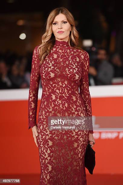 Rita Rusic walks the red carpet for 'Truth' during the 10th Rome Film Fest at Auditorium Parco Della Musica on October 16 2015 in Rome Italy