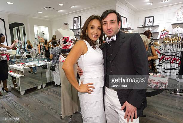 Rita Sanchez and Jacob Feinstein attend the White House Black Market And Vogue Celebrate the reopening at Aventura Mall White House Black Market on...
