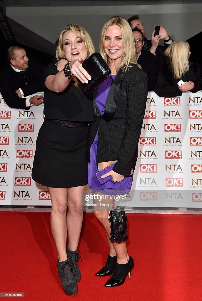 Rita Simons and Samantha Womack attend the National Television Awards at 02 Arena on January 21, 2015 in London, England.