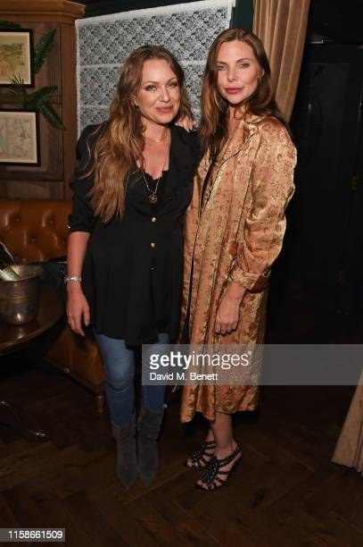 """Rita Simons and Samantha Womack attend the press night after party for """"The Girl On The Train"""" at Mr Fogg's Society of Exploration on July 30, 2019..."""