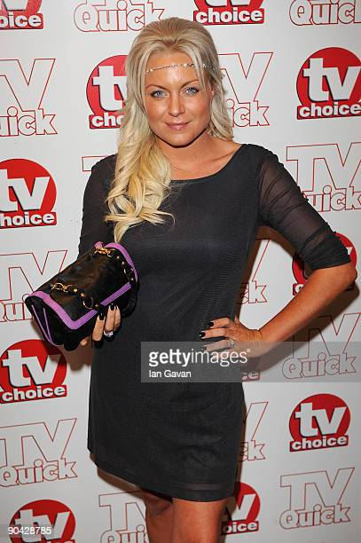 Rita Simons attends the TV Quick Tv Choice Awards at The Dorchester on September 7 2009 in London England