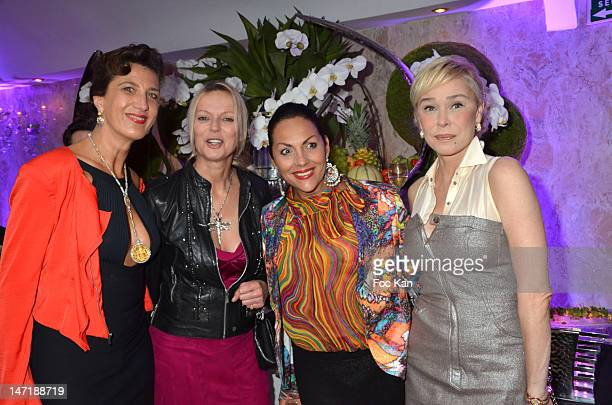 Rita Sprickmann Helene de Yougoslavie Hermine de Clermont Tonnerre and Alexandra Lorska attend the Chateau de Saint Cloud Gala Auction Dinner at the...