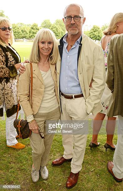 Rita Tushingham and HansHeinrich Ziemann attend the 'Dockers Flannels For Heroes' cricket match at Burton Court Chelsea on June 20 2014 in London...