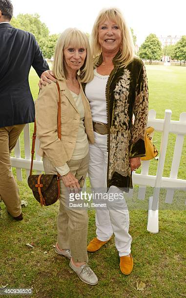 Rita Tushingham and Pattie Boyd attend the 'Dockers Flannels For Heroes' cricket match at Burton Court Chelsea on June 20 2014 in London United...