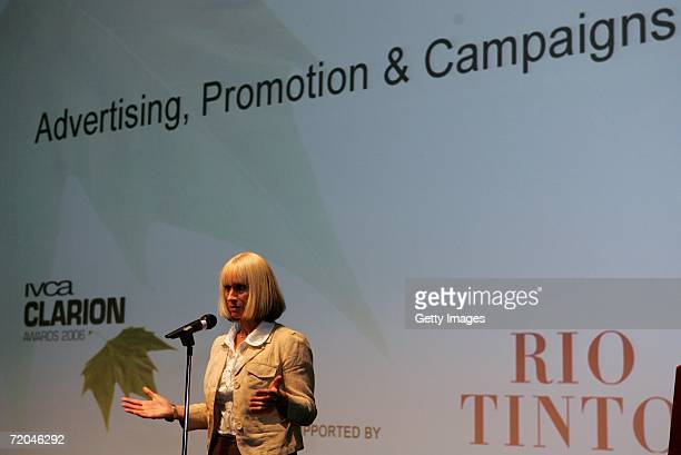 Rita Tushingham delivers her speech at the Clarion Awards 2006 on September 29 2006 in London The Clarion Awards set up in 2003 by The International...