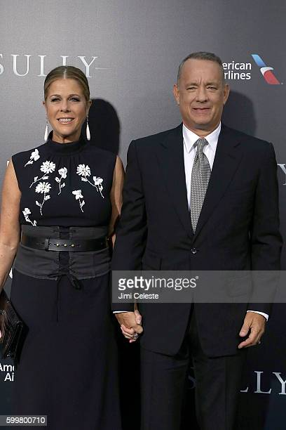 """Rita Wilson and Actor Tom Hanks attends The New York Premiere of Warner Bros. Pictures' and Village Roadshow Pictures' """"Sully"""" at Alice Tully Hall at..."""